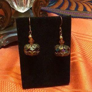 Victorian,Edwardian,gothic,Swarovski earrings